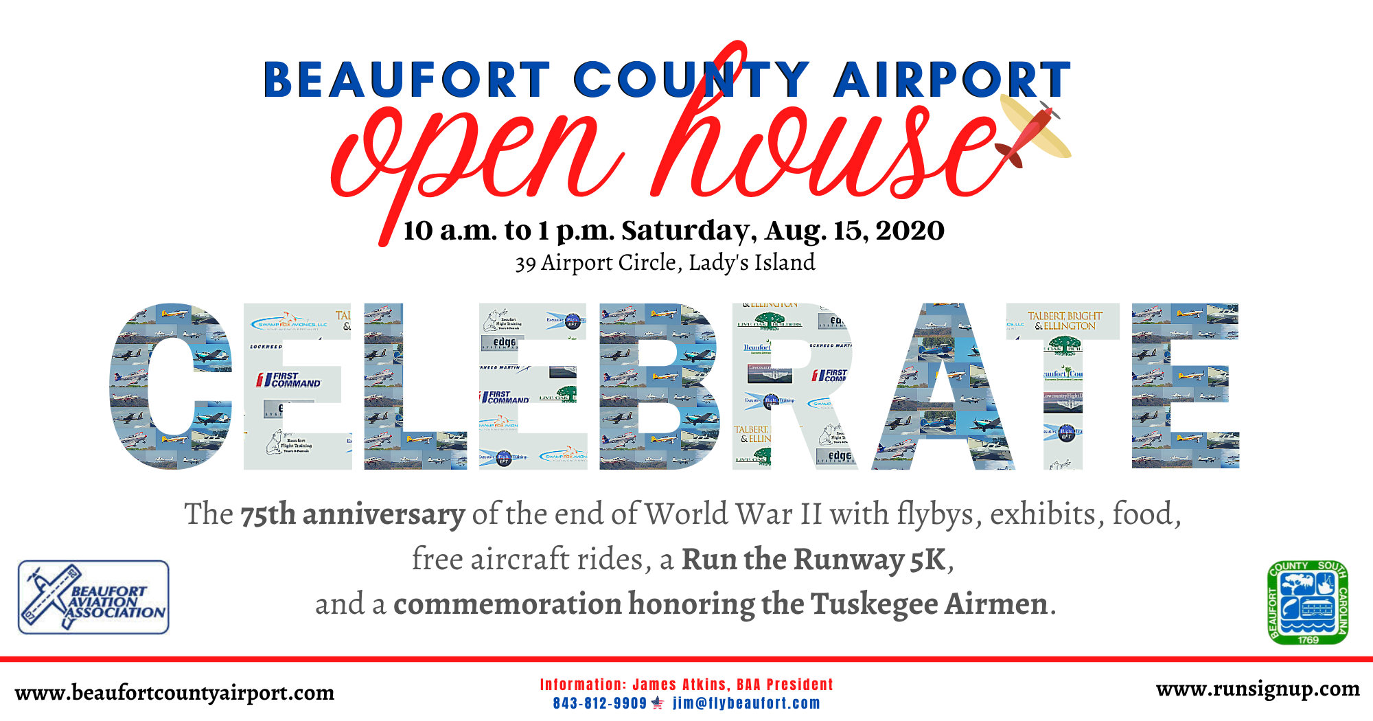 Beaufort County Airport to Celebrate Aviation Week with Open House